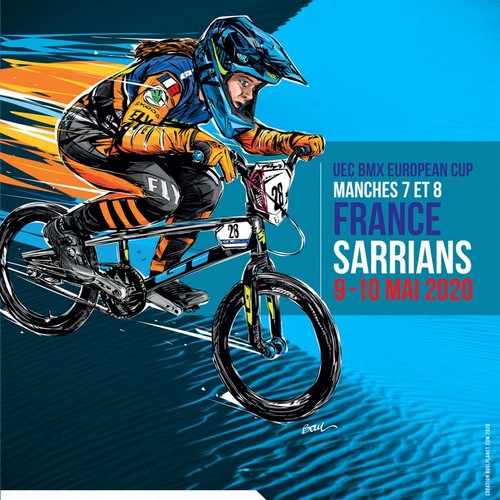 AFFICHE COUPE D'EUROPE BMX 2020 - MANCHES 7/8 à Sarrians - FRANCE