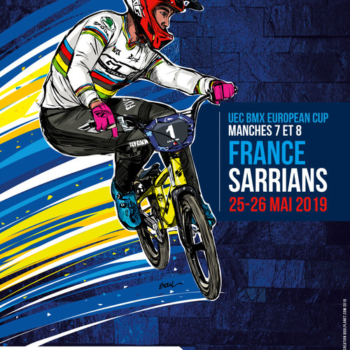 AFFICHE OFFICIELLE BMX SARRIANS - EUROPEAN CUP 2019