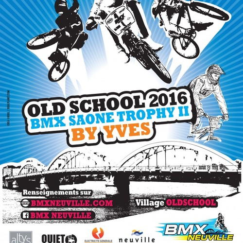 AFFICHE OLD SCHOOL BMX SAONE TROPHY 2