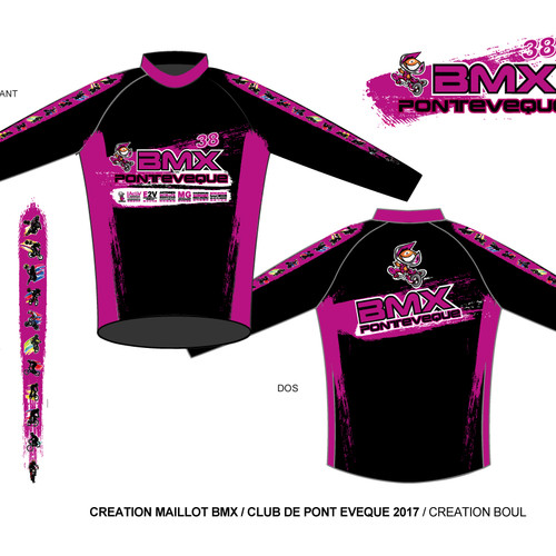 MAILLOT BMX PONT EVEQUE 2017 - VERSION GIRLS