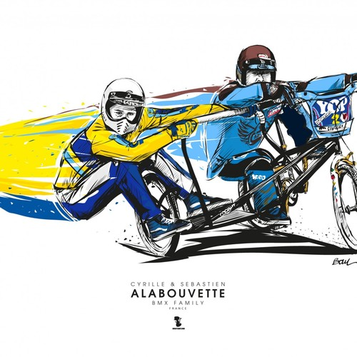 CYRILLE & SEBASTIEN ALABOUVETTE - BMX SIDE-CAR FAMILY